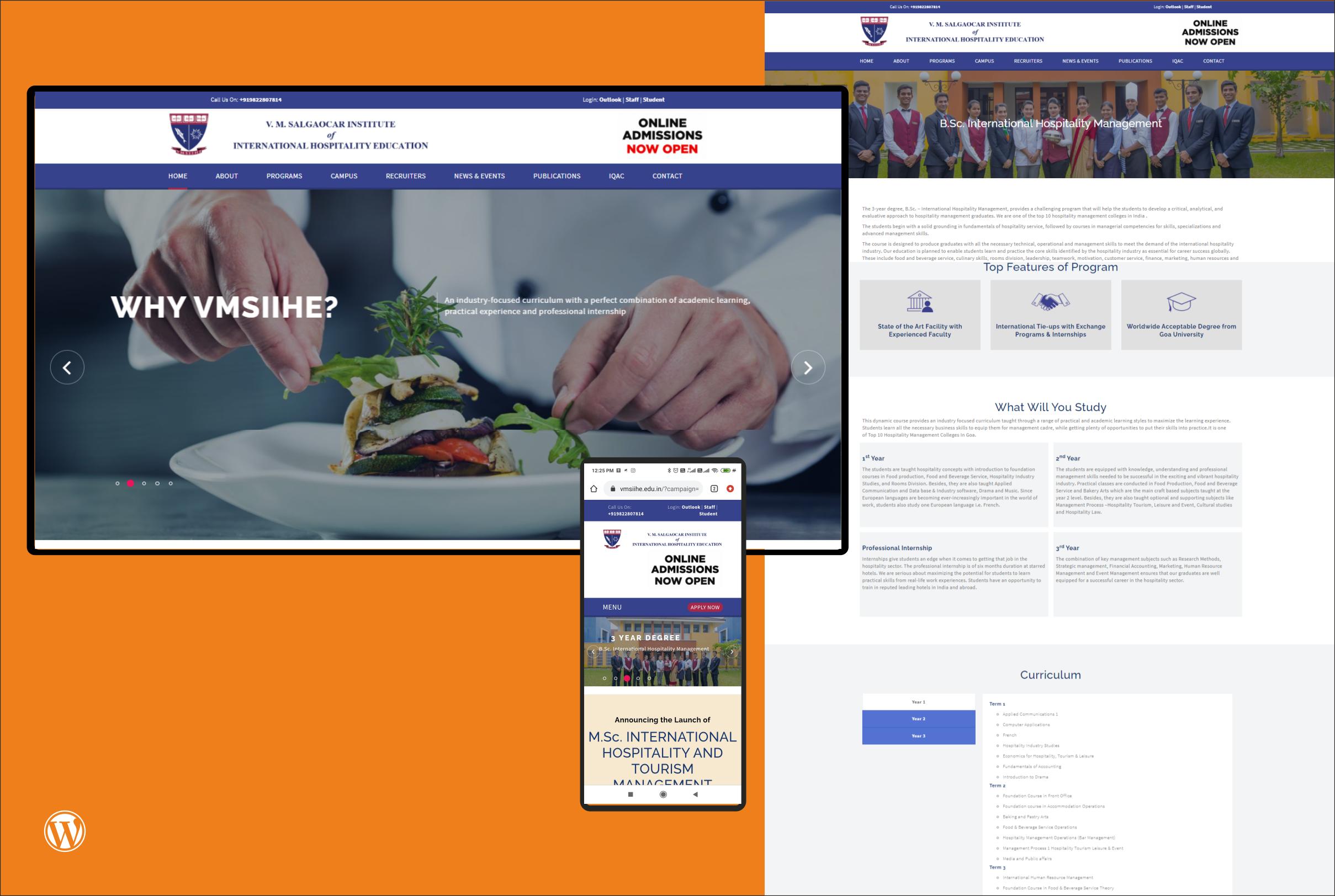 VMSIIHE Website Design